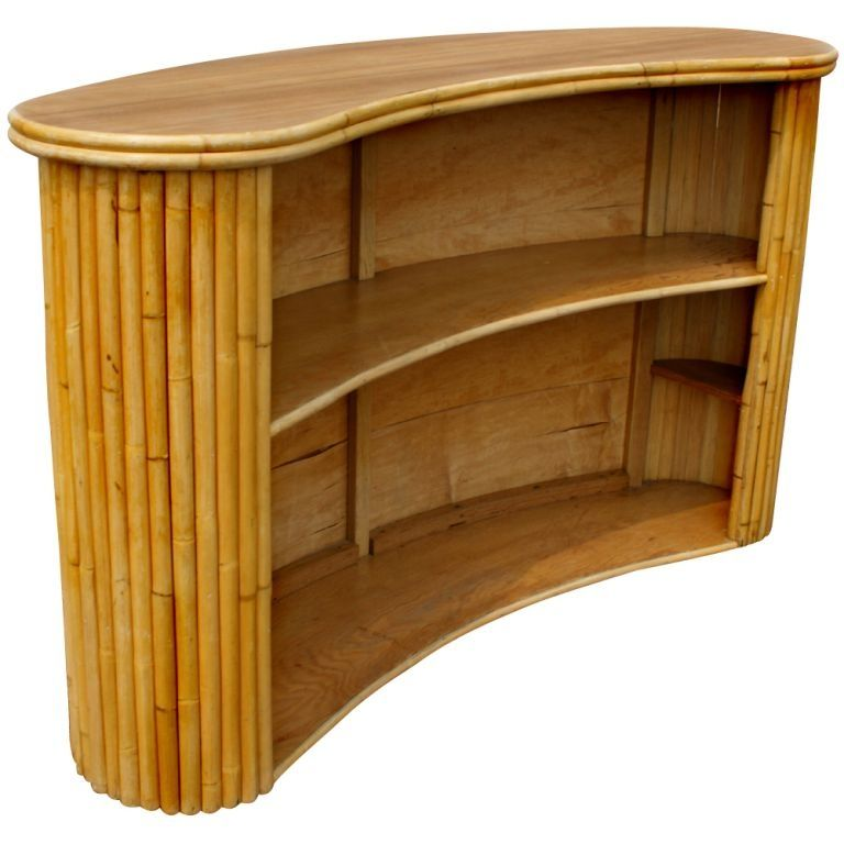 Paul Frankl Style Tropitan Bamboo Bar At 1stdibs