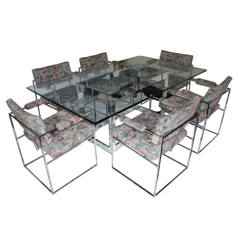 Milo Baughman for Thayer Coggin Dining Table and Six Chairs