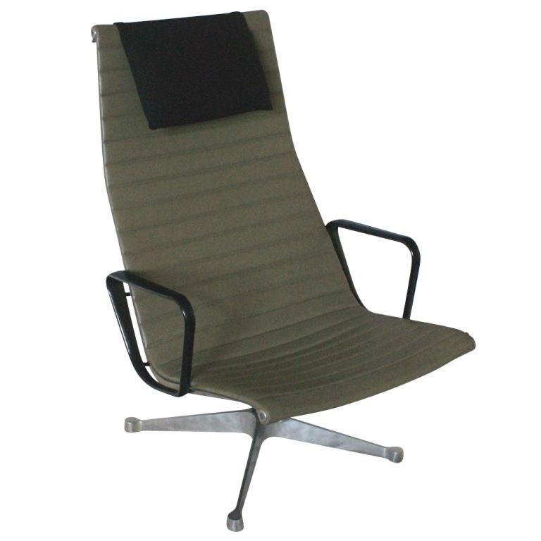 Eames For Herman Miller Aluminum Group Lounge Chair And Ottoman For Sale At 1
