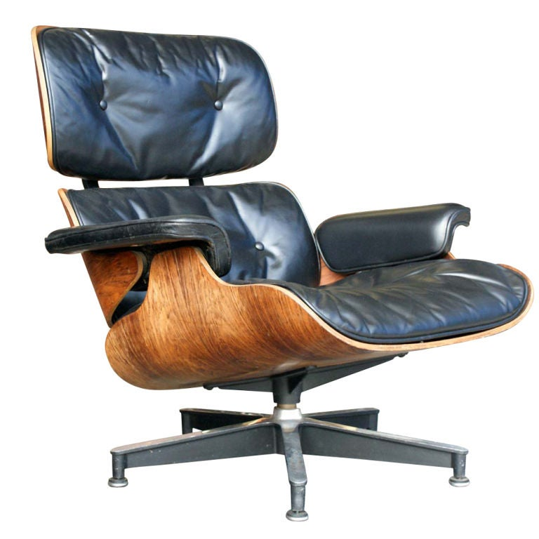 rare earliest edition eames chair and ottoman image 3