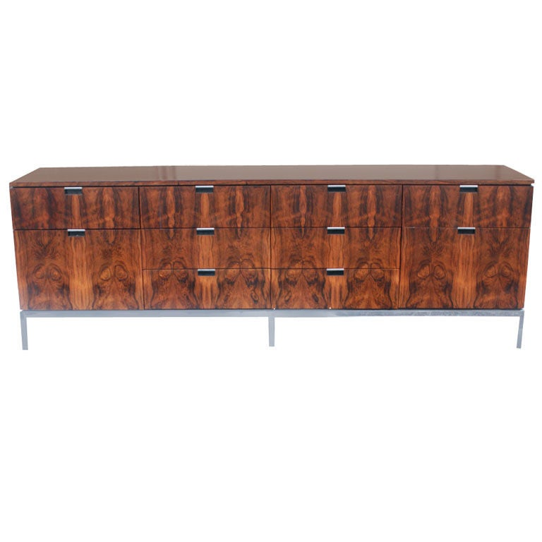 florence knoll for knoll rosewood buffet credenza at 1stdibs. Black Bedroom Furniture Sets. Home Design Ideas