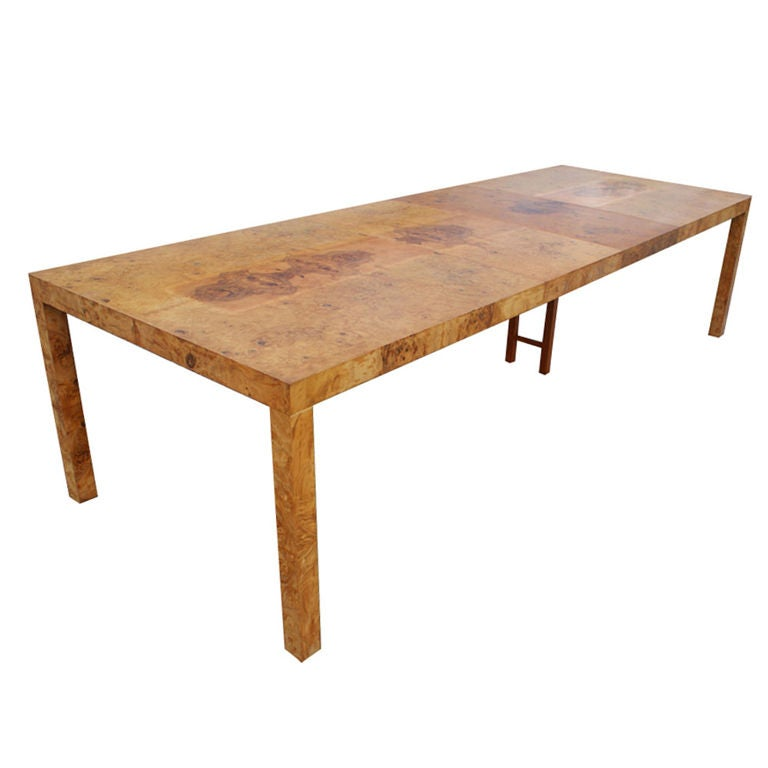 Milo Baughman For Thayer Coggin Burled Olivewood Dining Table At