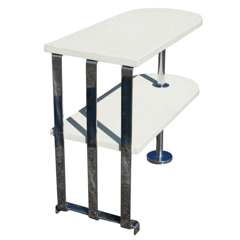 American Alfons Bach For Lloyd Loom Art Deco Side Table Shelf