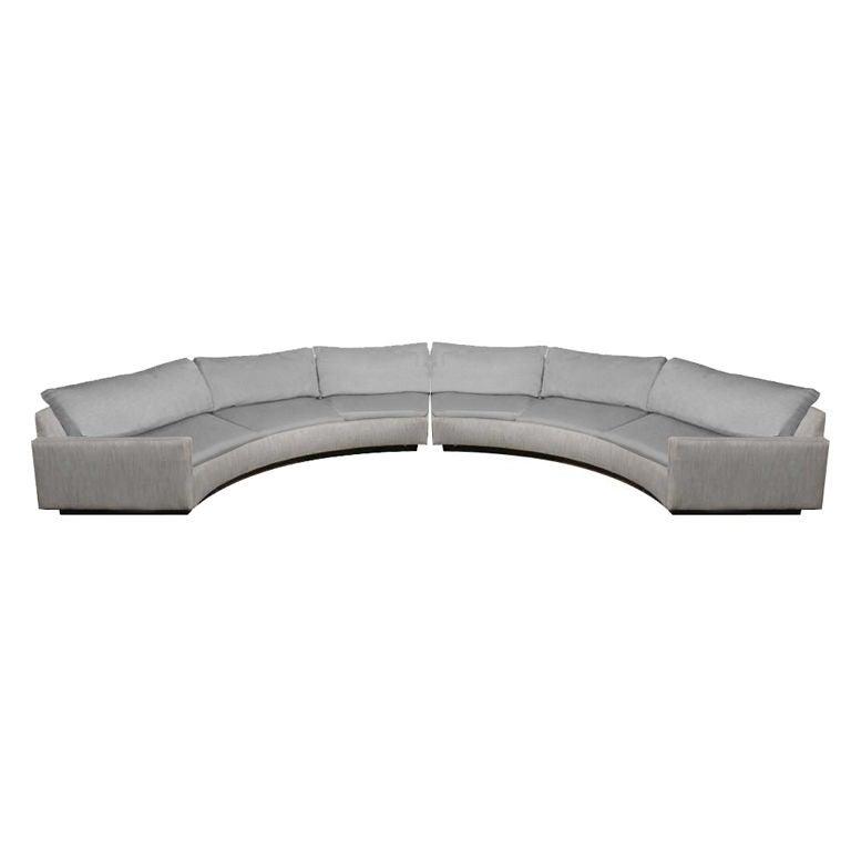 Milo Baughman For Thayer Coggin Semi Circular Sectional Sofa