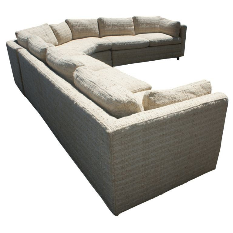Large baker three piece sectional sofa at 1stdibs for Baker furniture sectional sofa
