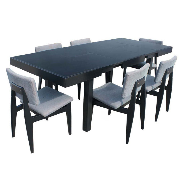 george nelson for herman miller dining table and six. Black Bedroom Furniture Sets. Home Design Ideas