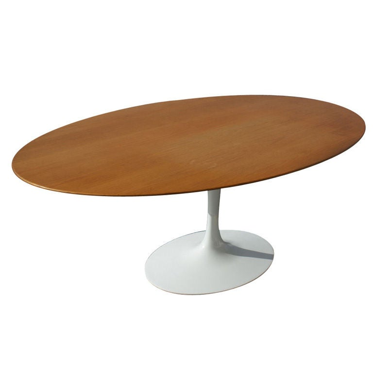eero sarinen for knoll oval oak dining table at 1stdibs