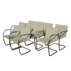 Ten Mies Van Der Rohe For Knoll Thin Pad Brno Chairs
