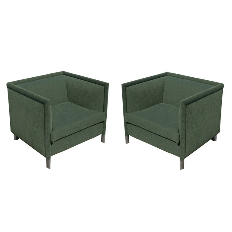 Pair Of Gary Lee For Knoll Lounge Chairs