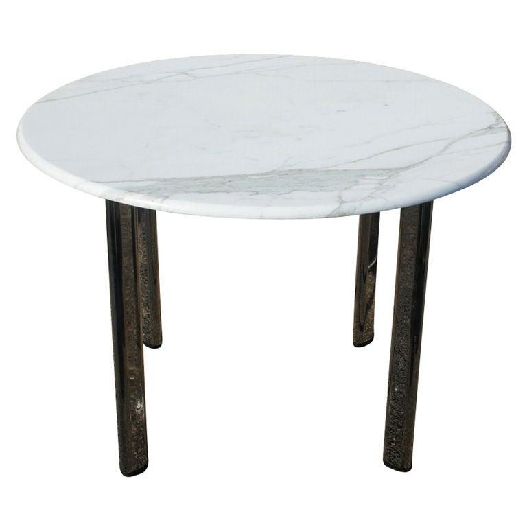 Joe D'Urso For Knoll Carrara Marble Table