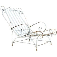 Ornate Wrought Iron Lounge Chair