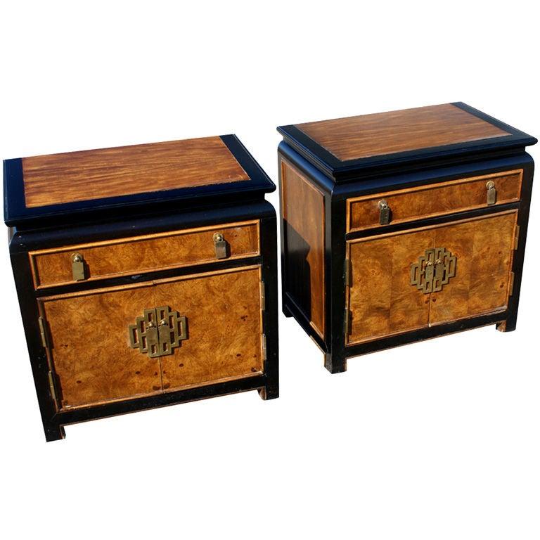 Century Furniture Asian Motif Nightstands 1
