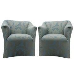 Pair Of Mario Bellini For Cassina Tentazione Lounge Chairs