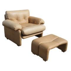 Tobia Scarpa For B&B Italia Coronado Lounge Chair And Ottoman