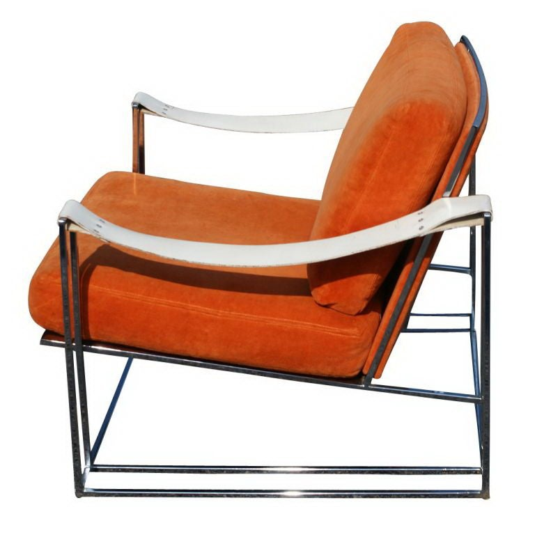 Pair Of Milo Baughman Lounge Chairs: Pair Of Milo Baughman Lounge Chairs For Sale At 1stdibs