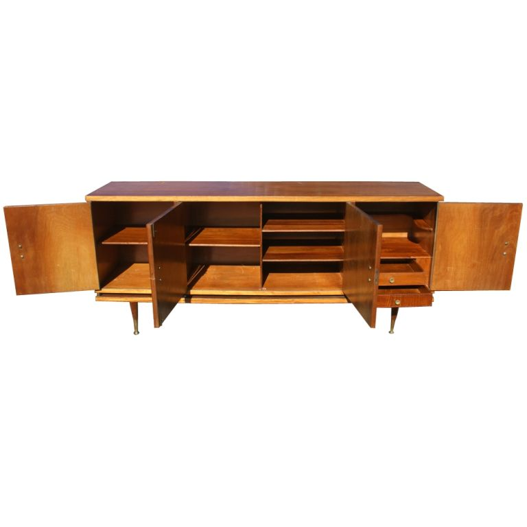 7ft Italian Buffet Dry Bar Credenza In Good Condition For Sale In Pasadena, TX