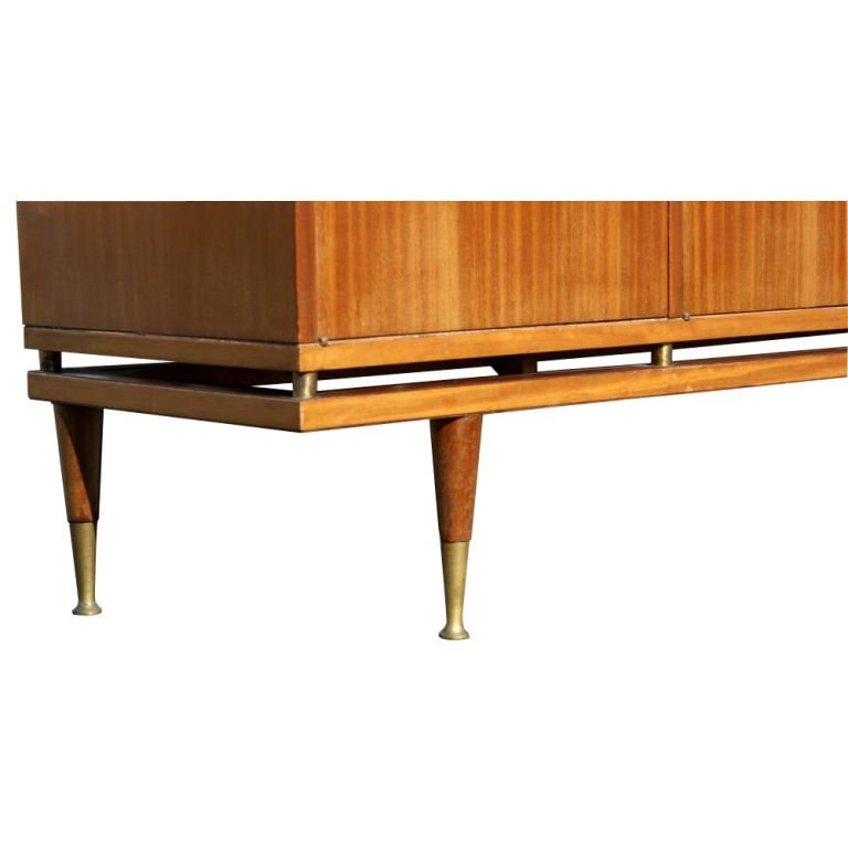 Mid-20th Century 7ft Italian Buffet Dry Bar Credenza For Sale