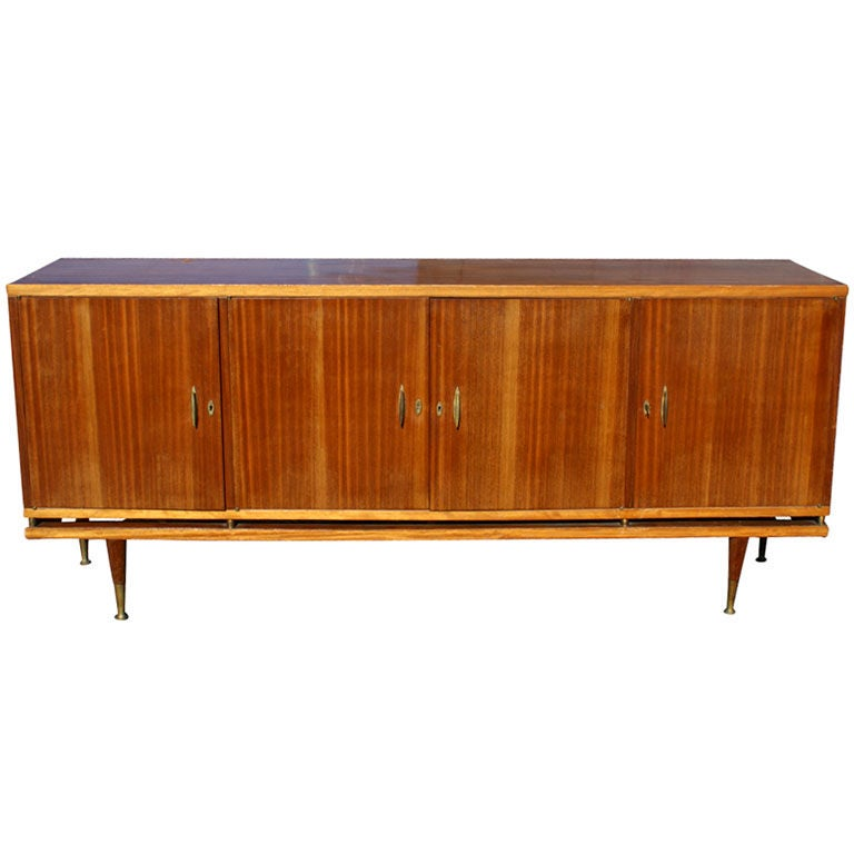 7ft Italian Buffet Dry Bar Credenza For Sale