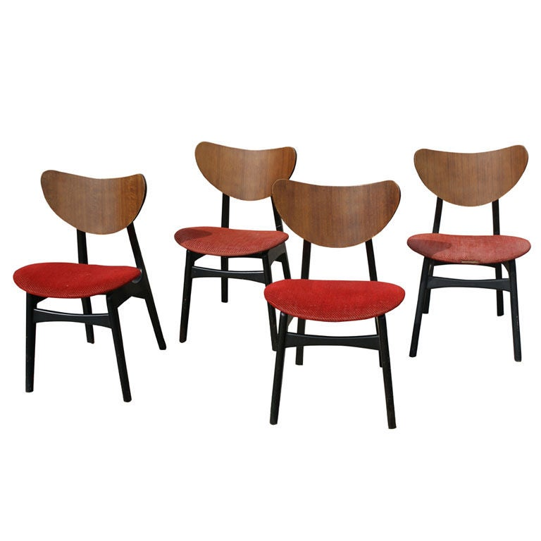 Four danish style dining chairs by g plan at 1stdibs for G plan dining room chairs
