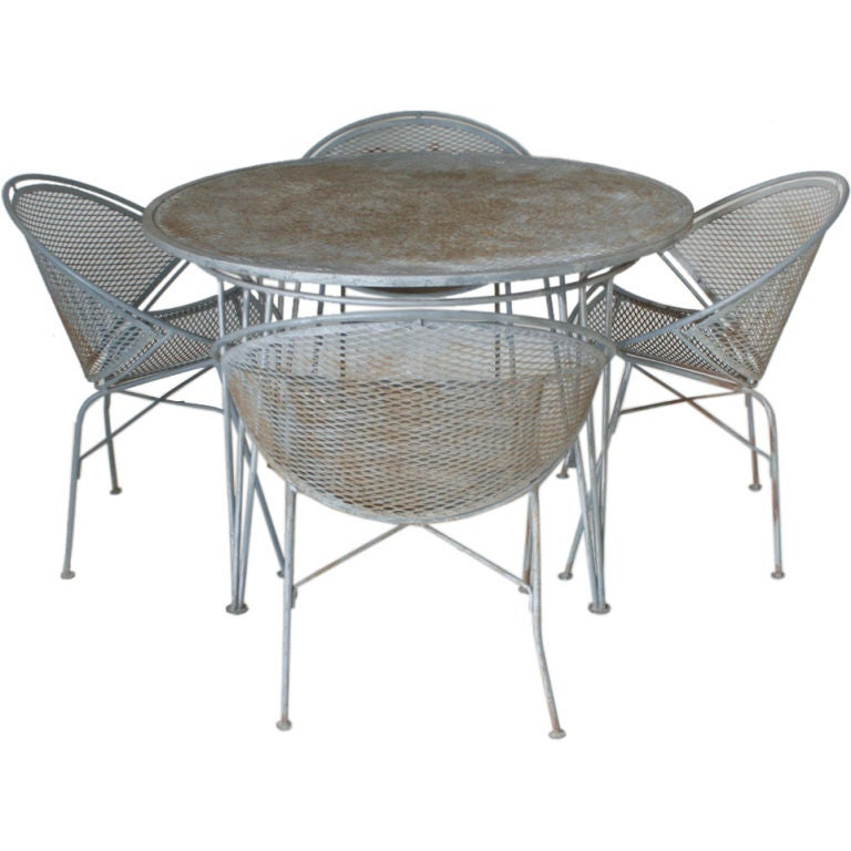 Salterini Outdoor Table And Four Chairs at 1stdibs