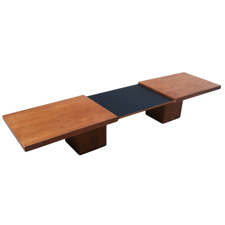 John keal for brown saltman extension coffee dining table for Coffee table extension