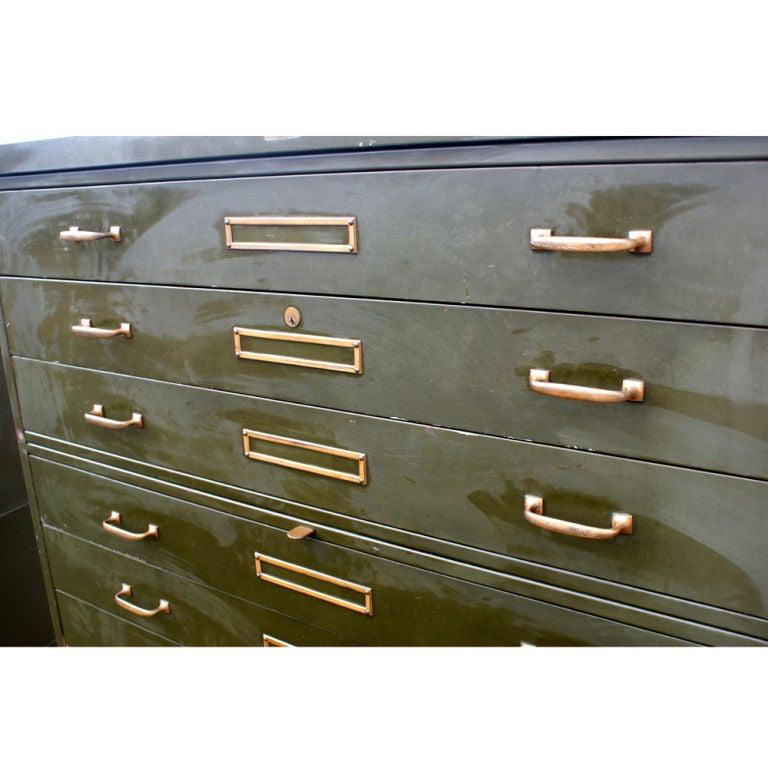 Vintage Industrial Corry Jamestown Steel File Cabinet at 1stdibs