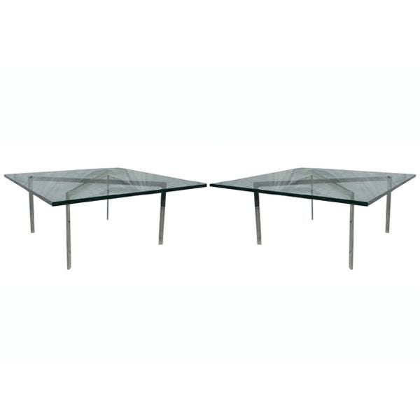 Pair of mies van der rohe for knoll barcelona tables at 1stdibs - Barcelona table knoll ...