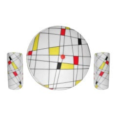 Three-Piece Light Set with Mondrian Style Design