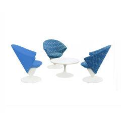 Adrian Pearsall For Craft Associates Cone Chairs & Table Set