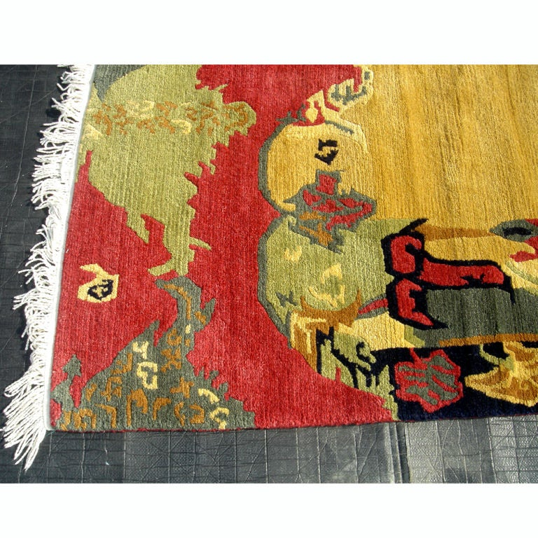 Hand Knotted Nepalese Wool Rug 50% At 1stdibs