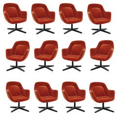 Vintage Knoll Max Pearson Executive Arm Chairs (Set of 12)