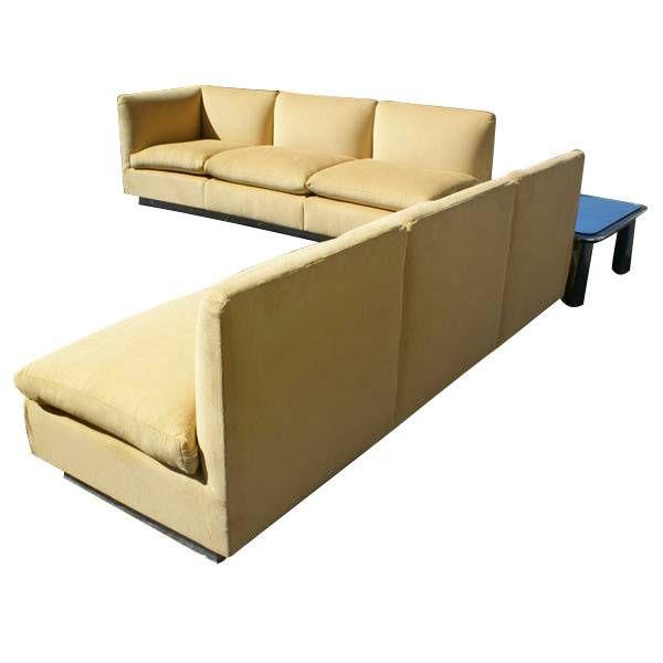 Thayer Coggin Sectional Sofa by Milo Baughman In Good Condition For Sale In Pasadena, TX