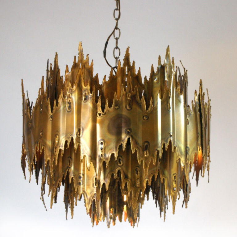 Brutalist Chandelier by Harry Weese image 2