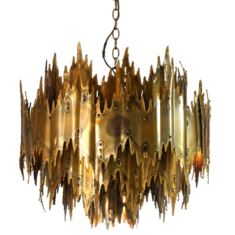 Brutalist Chandelier by Harry Weese