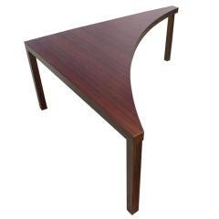 Corner Table in Walnut by Milo Baughman