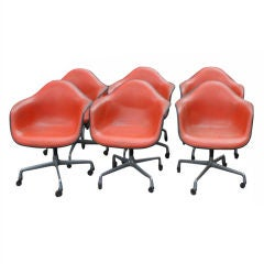 Set of 6 Vintage Herman Miller Eames Shell Armchairs