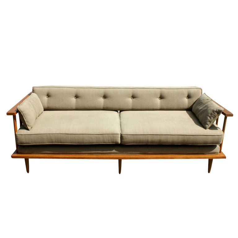 Paul mccobb teak sofa daybed at 1stdibs Daybed sofa couch