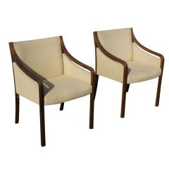 Pair Of Bert England For Stow Davis Lounge Chairs