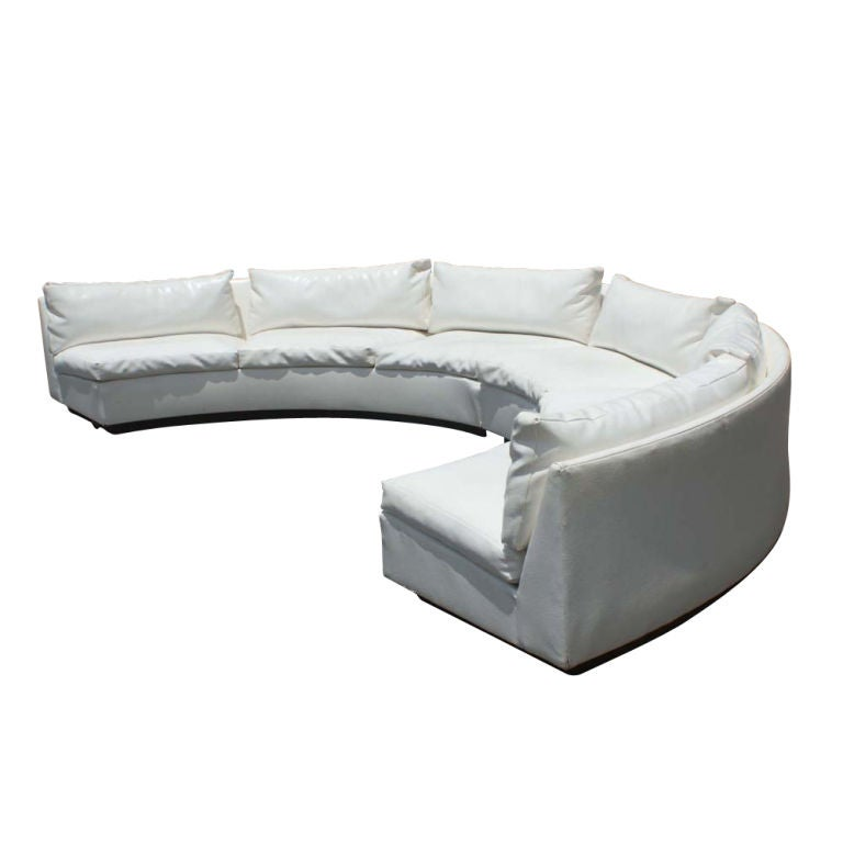 Milo Baughman For Thayer Coggin Sectional Sofa With Semi Circle Sofa  Sectional