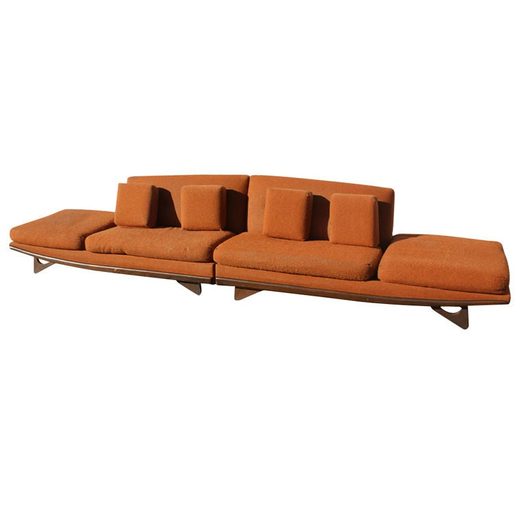Adrian Pearsall For Craft Associates Sectional Sofa  For Sale