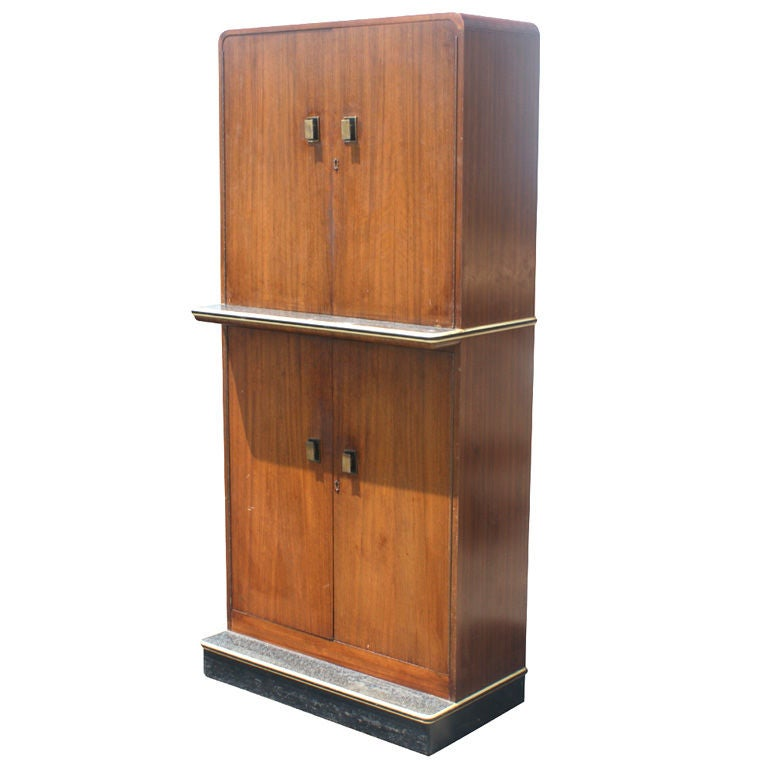 vintage art deco bar cabinet for sale at 1stdibs. Black Bedroom Furniture Sets. Home Design Ideas