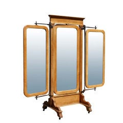 American Empire Oak Triple Dressing Mirror 25%OFF original -- a $4000 saving