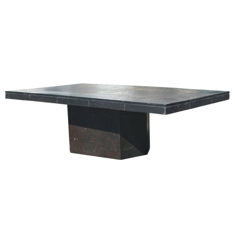 Vintage Black Slate Patchwork Coffee Table 25 Off Original Of 3900 For Sale At 1stdibs