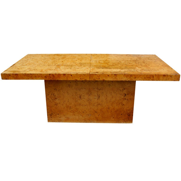 Milo Baughman For Thayer Coggin Burled Extension Dining Table At