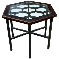 John Widdicomb Hexagonal Side Table