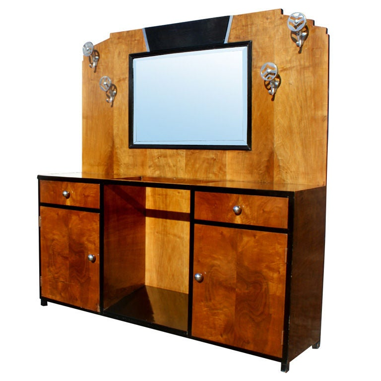 Art Deco Bathroom Vanity Cabinet For Sale