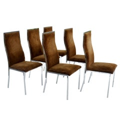 Six Milo Baughman For Thayer Coggin Dining Chairs