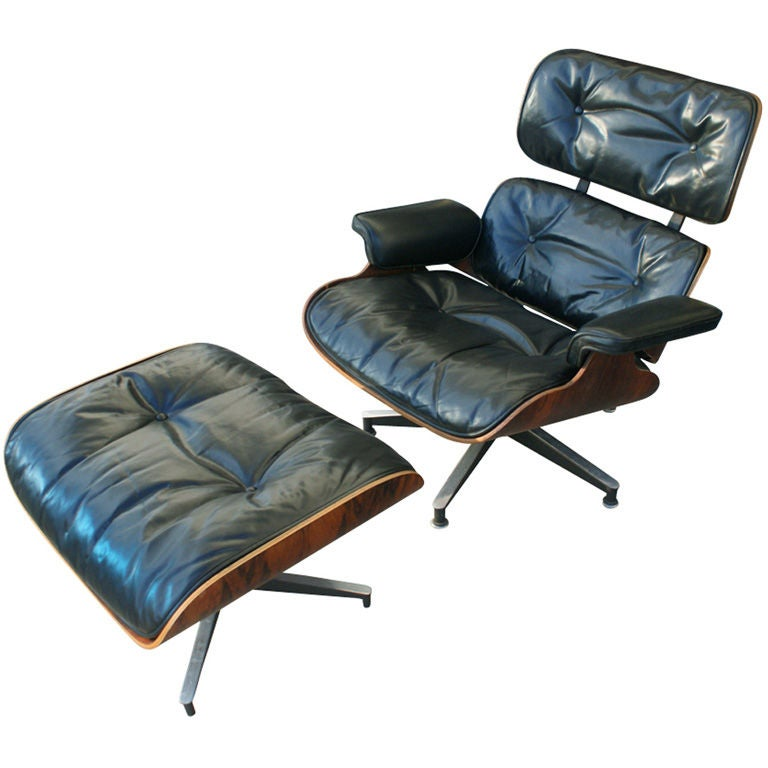 Herman Miller Eames Lounge and Ottoman For Sale