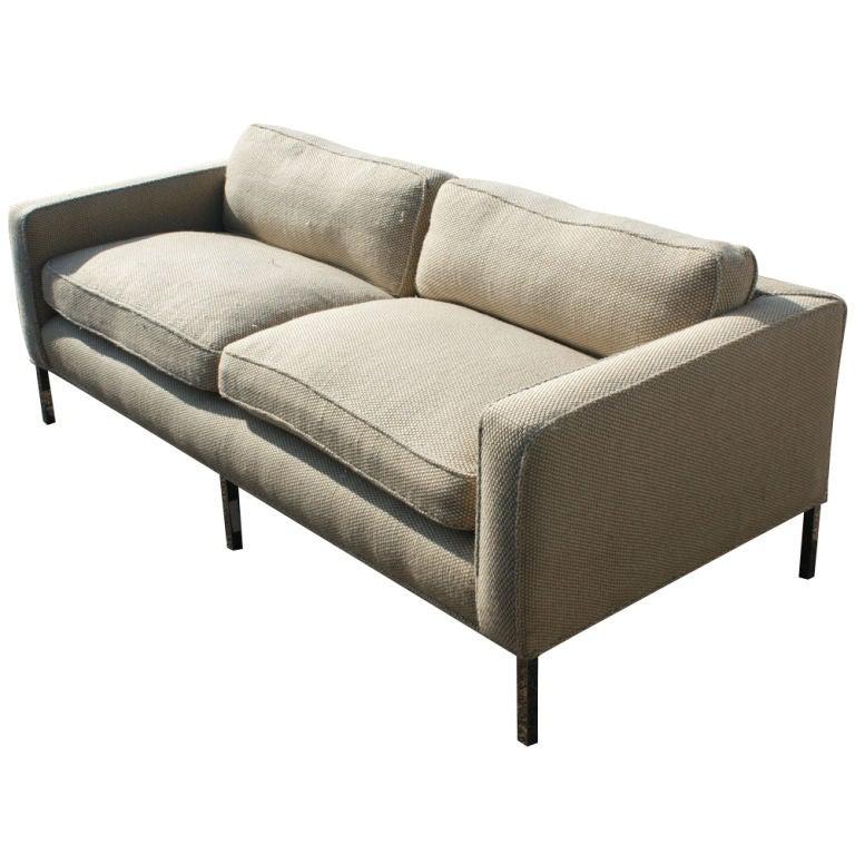 Vintage Knoll Style Settee Sofa At 1stdibs