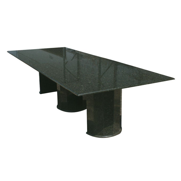 Long Black And Green Granite Conference Table At Stdibs - Granite conference table for sale
